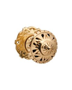 Filigree Knob Latch Polished Brass 0933