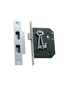 3 Lever Mortice Lock Satin Chrome 1133