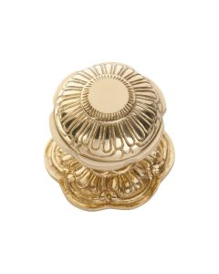 Centre Door Knob Polished Brass 1303