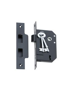 3 Lever Mortice Lock Matt Black 2260