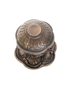 Centre Door Knob Antique Brass 2365