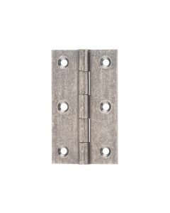 Hinges Fixed Pin Rumbled Nickel 2520