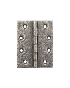 Hinges Fixed Pin Rumbled Nickel 2523