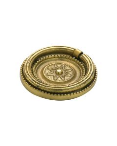Ornate Ring Pull Polished Brass 3621