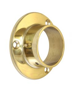 Bar Foot Rail End Socket Polished Brass