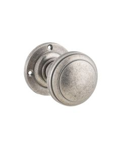 Milton Knob Latch Rumbled Nickel 6366