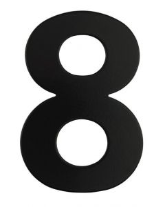 Black Numeral 130mm #8