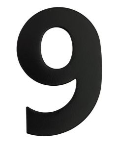 Black Numeral 130mm #9