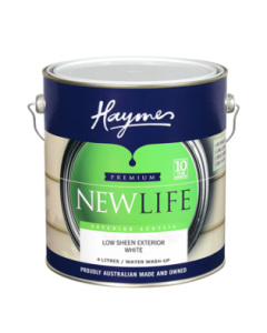 Haymes Newlife Exterior Acrylic 4 Ltr White