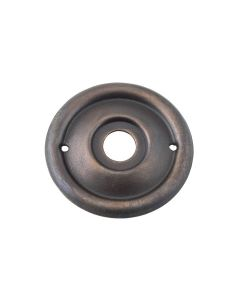 Milled Edge Knob Backplates Antique Brass 0844