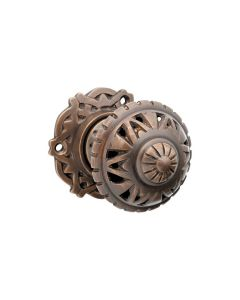 Filigree Knob Latch Antique Brass 0934