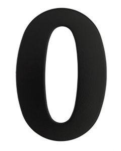 Black Numeral 130mm #0