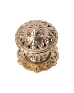 Filigree Centre Door Knob Polished Brass 1307