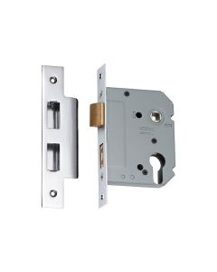 Euro Mortice Lock Chrome Plate 57mm Backset 2169