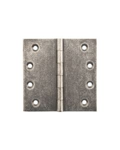 Hinges Fixed Pin Rumbled Nickel 2524