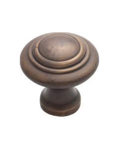 Domed Cupboard Knobs Antique Brass 3050
