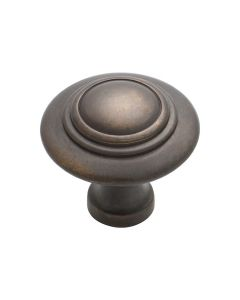 Domed Cupboard Knobs Antique Brass 3052