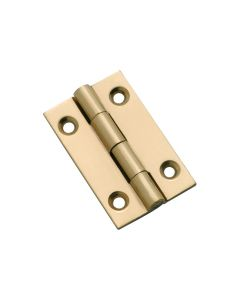 Fixed Pin Cabinet Hinge Polished Brass 3751