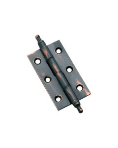 Fixed Pin Finial Hinge Polished Brass 3772