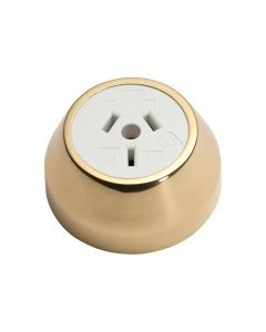 Federation Socket Polished Brass 5478