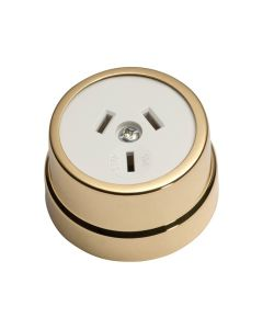 Traditional Socket Polished Brass 5480
