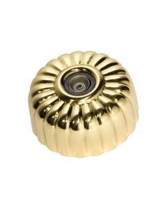 Fluted Television Socket Polished Brass 5485