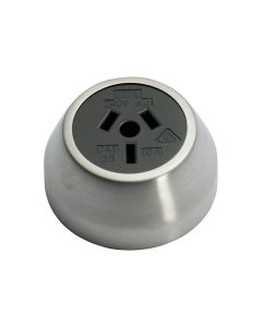 Federation Socket Satin Chrome 5534