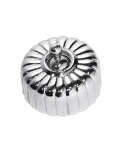 Fluted Light Switch Chrome Plate 5781