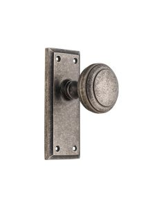 Milton Knob Latch Rumbled Nickel 6365