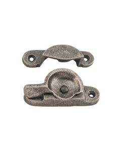 Classic Sash Window Fastener Rumbled Nickel 6407