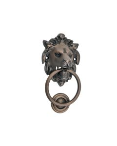 Lion Door Knocker Antique Brass 9331