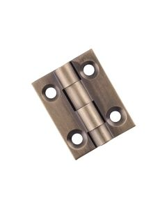 Fixed Pin Cabinet Hinge Antique Brass 9726