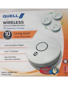 Quell Wireless Interconnect Smoke Alarm - Living Area